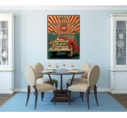Road 66 Retro Photo Canvas