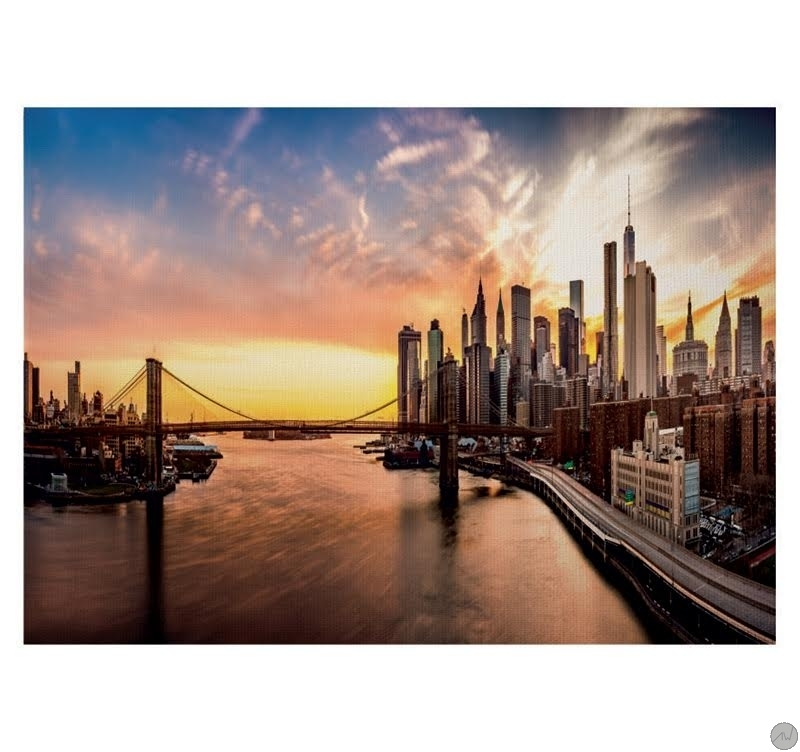 Tableau ville new york urban sunset artwall and co - Tableau de new york ...