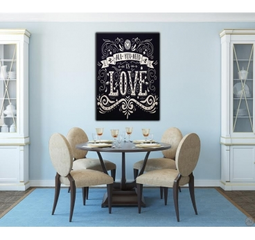 Tableau Moderne All You Need Is Love