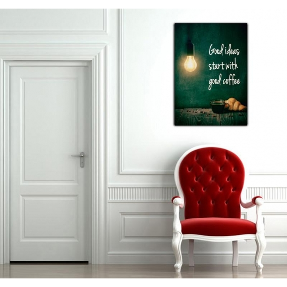Coffee and Croissants Trendy Canvas