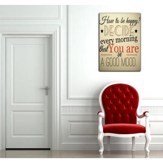 Décoration Murale Design Comment Être Heureux