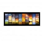 Tableau moderne de différents paysages et plusieurs ciels