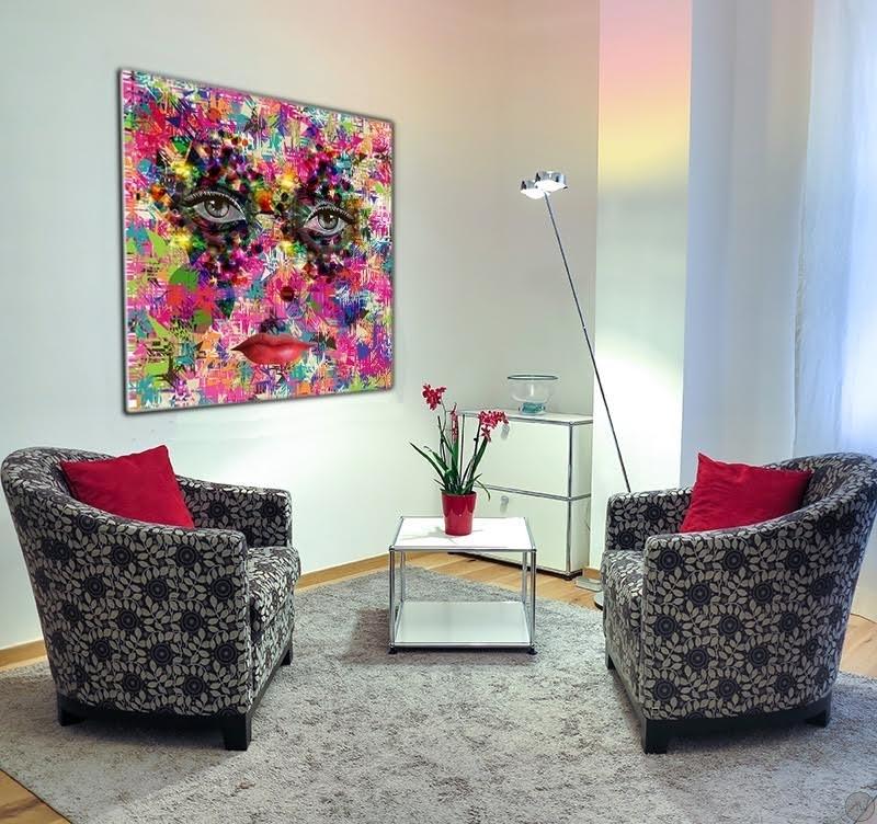 toile imprim e pop art regard color artwall and co. Black Bedroom Furniture Sets. Home Design Ideas