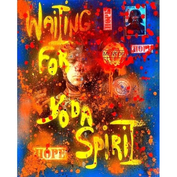 Toile Peinture Waiting For Yoda Spirit
