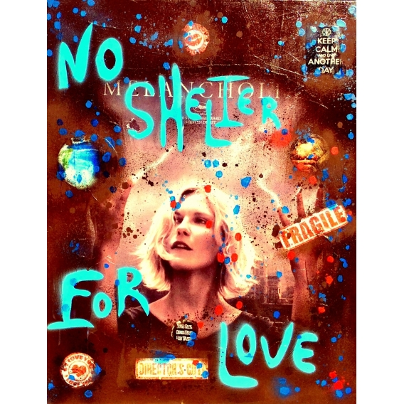 Peinture Pop Art No Shelter For Love