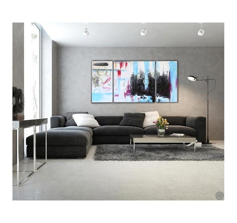 Toile peinture abstrait dessin color artwall and co - Dessin colore ...