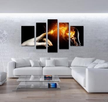 Tableau imprimé mural d'une main pour une déco plein d'énergie