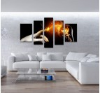 Energy Hand wall canvas print on design interior