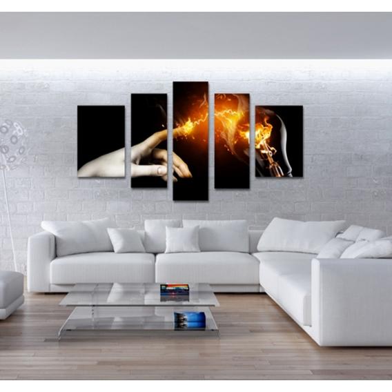 Tableau Plusieurs Panneaux : tableau abstrait energy hand ~ Teatrodelosmanantiales.com Idées de Décoration