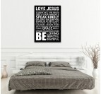 Life Rules trendy canvas print for inspiration wall