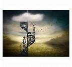 Photo d'Art Abstraite Escalier Imaginaire