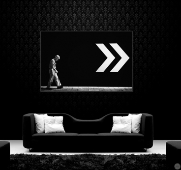 Modern Art Photo Follow the Arrows