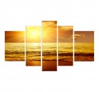 Light Way 1 nature wall decoration with yellow colors