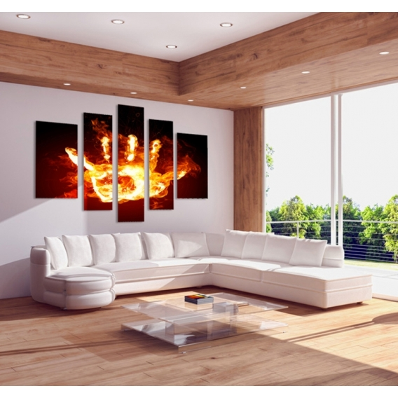 Fire Hand Abstract Decoration