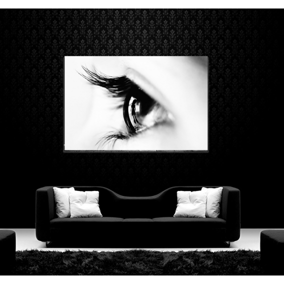 Tableau d'Art Blanc Reflet de l'Oeil