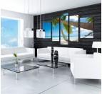 Bahamas palm wall art print for a unique interior
