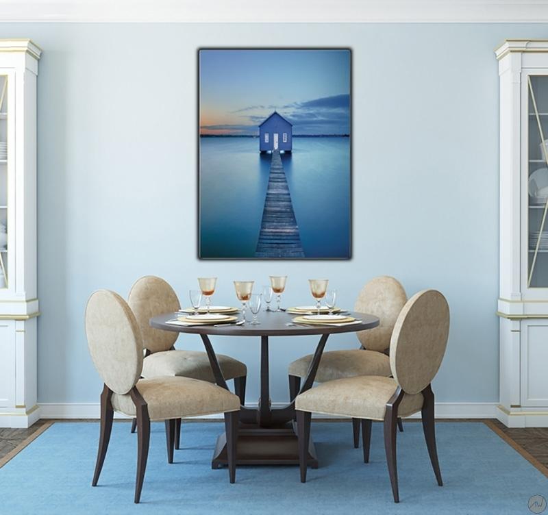 tableau moderne imprim cabane sur l 39 eau artwall and co. Black Bedroom Furniture Sets. Home Design Ideas