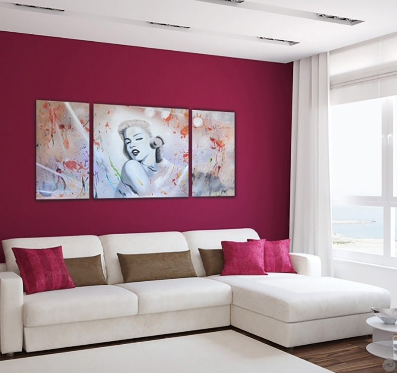 Grand tableau peinture marilyn monroe artwall and co - Tableaux pas cher contemporain ...