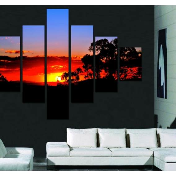 Natural Sunset 1 Landscape Art Print