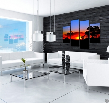 Landscape modern wall art for a zen interior decoration