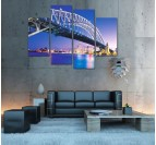 Decorative art print Sydney by Night in wall decoration