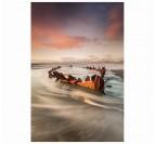 Epave en bord de plage
