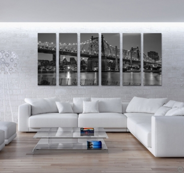 Queensboro Bridge wall art in black and white for an unique interior