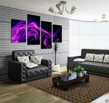 tableau design violet smoke. Black Bedroom Furniture Sets. Home Design Ideas