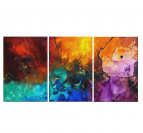 Paint Implosion Magma Abstract Painting