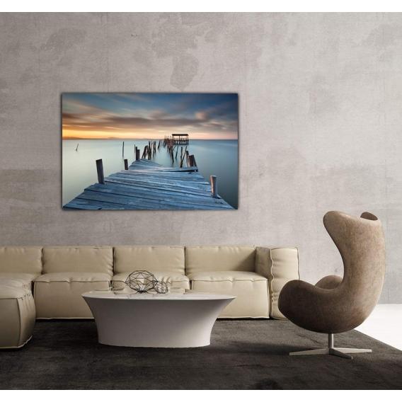 Landscape Canvas Pontoon in Water