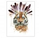 Toile Imprimée Déco Tigre Rêves