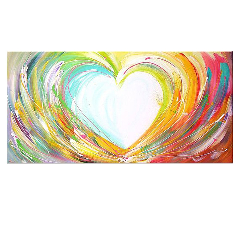 contemporary heart paint canvas artwall and co