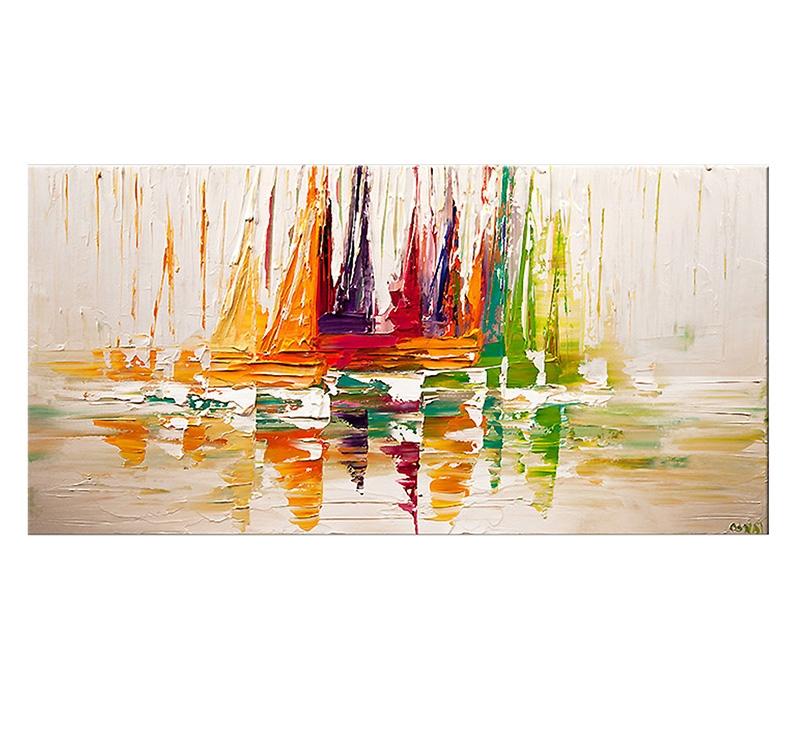 Tableau Peinture D 233 Co Voilier Color 233 Artwall And Co
