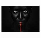 Toile Photo d'Art Regard noir