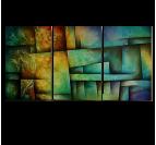 Abstract Urban Art Tableau Triptyque
