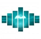 Tableau design nature et zen de la mer en bleu