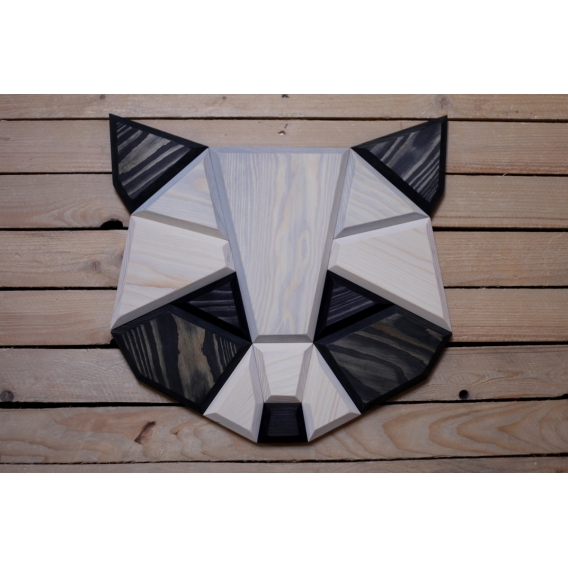 Wood Wall Decoration Raccoon