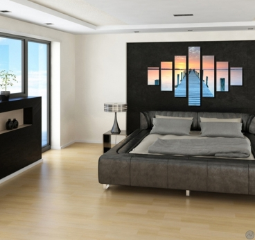 tableau pas cher seychelles pier. Black Bedroom Furniture Sets. Home Design Ideas