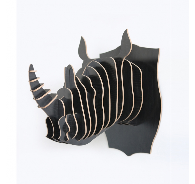 rhinoceros animal trophy decoration artwall and co. Black Bedroom Furniture Sets. Home Design Ideas