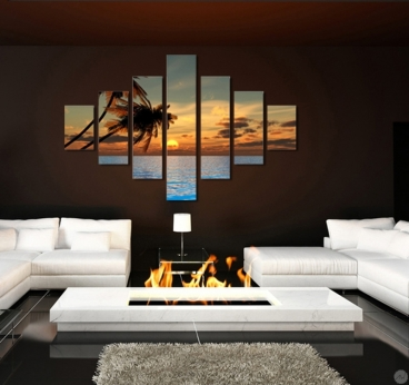 tableau moderne sea palm and sun. Black Bedroom Furniture Sets. Home Design Ideas