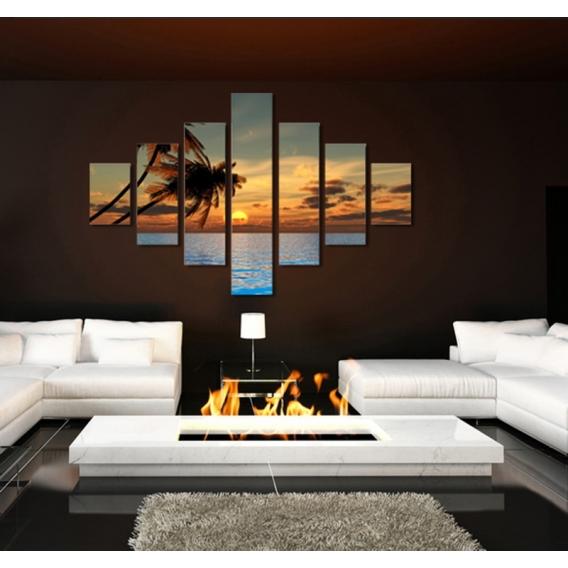 Sea, Palm and Sun Landscape Art Print