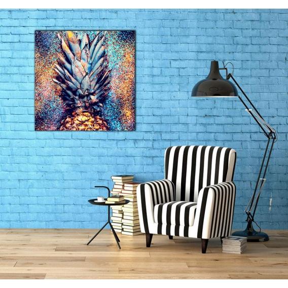 Pop Art Printed Canvas Pineapple