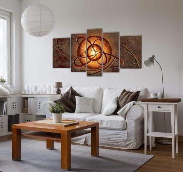Tableau Africain peinture multiple