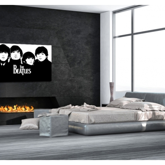tableau moderne the beatles. Black Bedroom Furniture Sets. Home Design Ideas