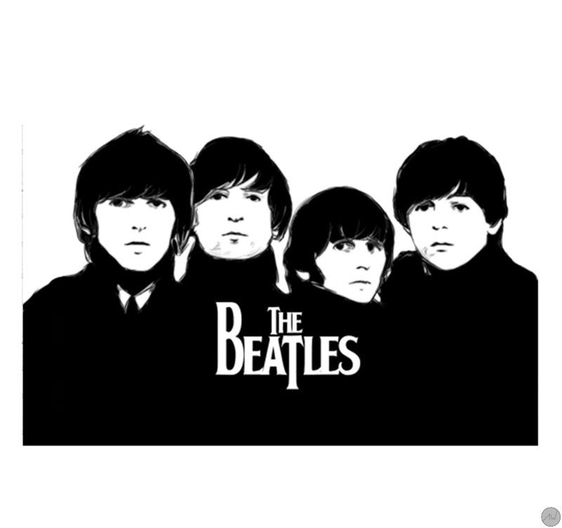 tableau moderne the Beatles