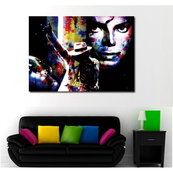 tableau pop art michael jackson bad. Black Bedroom Furniture Sets. Home Design Ideas