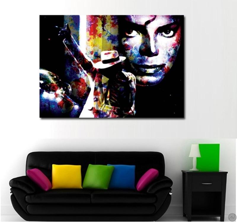tableau pop art michael jackson bad. Black Bedroom Furniture Sets. Home Design Ideas