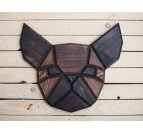 Bulldog Wood Wall Decoration