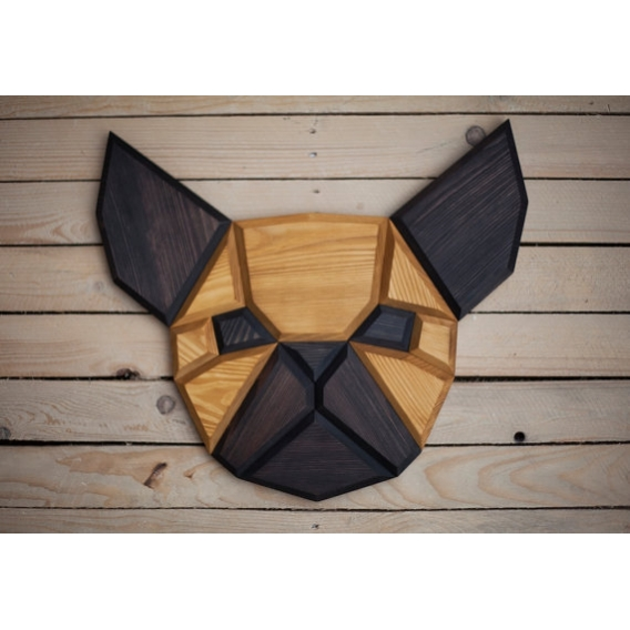 Bulldog Wood wall Decoration.