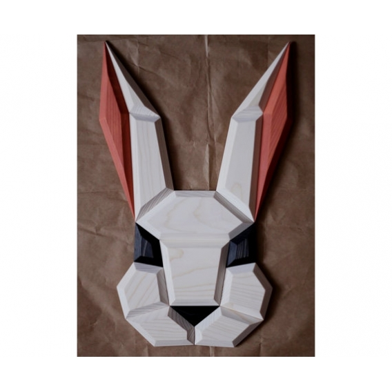 Rabbit Wood Wall Decoration
